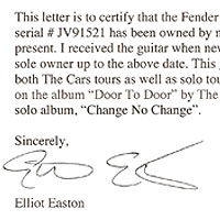 letter from Elliot Easton