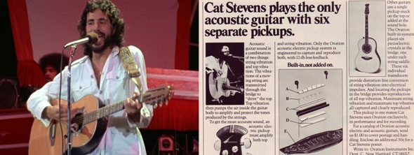 Cat Stevens plays Ovation