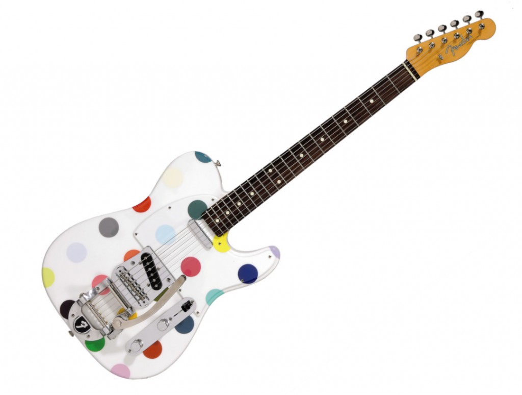 damian_art_hirst_art_polka_dot_spots_fender_telecaster