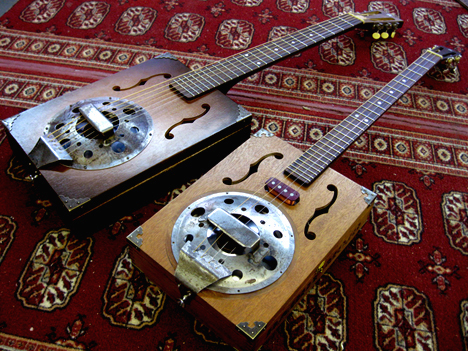 resophonic cigar box guitar